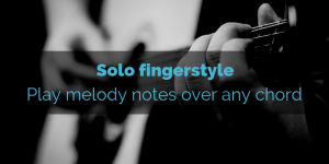 Melody notes over chords